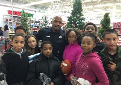 H.O.M.E. Presents: Shop With A Cop At Waltmart 2015